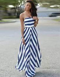 Ефектна дамска рокля в бяло - код 7144