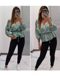 Дамска блуза в мента - код 7771