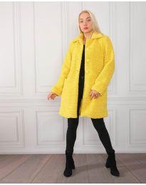 Дамско палто в жълто - код 1615