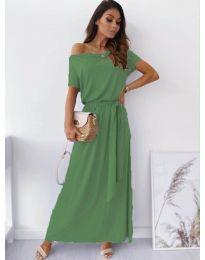 Изчистена рокля в зелено - код 7700