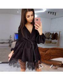 Елегантна рокля в черно - код 3738