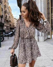 Дамска рокля с атрактивен десен - код 4589 - 2