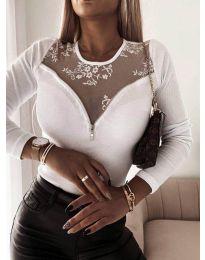 Елегантна дамска блуза в бяло - код 8782