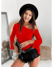 Дамска блуза в червено -  код 8353