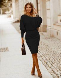 Елегантна дамска рокля в черно - код 2242