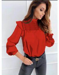 Дамска блуза в червено - код 6202