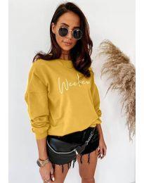 Дамска блуза в цвят горчица - код 917