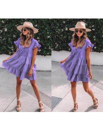 Свободна рокля в лилаво - код 1155