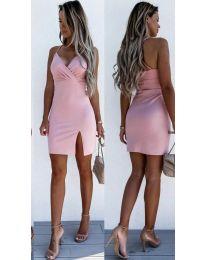 Елегантна дамска рокля в пудра - код 8979