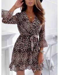 Дамска рокля с ефектен десен - код 7677 - 3