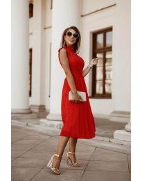 Ефирна дамска рокля в червено - код 8090