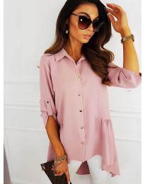 Асиметрична риза в розово - код 5689