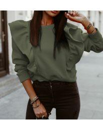 Дамска блуза в зелено  - код 3890