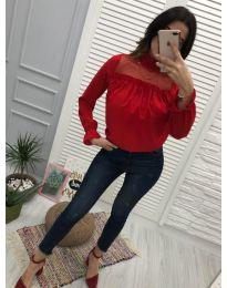 Атрактивна дамска блуза в червено - код 0626