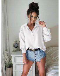 Елегантна риза в бяло - 9898