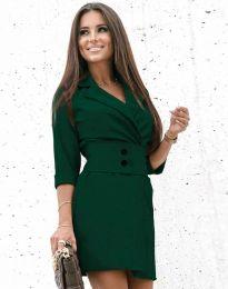 Дамска рокля в тъмнозелено - код 1357