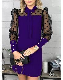 Елегантна рокля в тъмно лилаво - код 1081