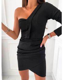 Елегантна рокля в черно - код 2079