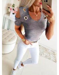 Дамска блуза в сиво - код 9691