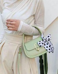 Дамска чанта в цвят мента - код B437
