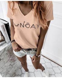 Тениска в прасковено - код 822