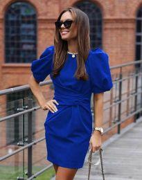 Атрактивна дамска рокля в синьо - код 9438