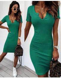 Изчистена рокля в зелено - код 8829