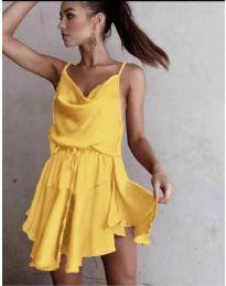 Феерична рокля в жълто - код 660