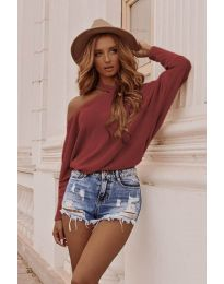Дамска блуза в бордо - код 895