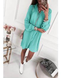 Свободна рокля в цвят тюркоаз - код 427