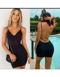 Дамска рокля в черно - код 3948