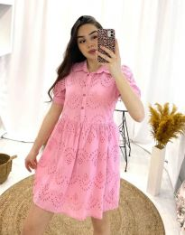 Свободна дамска рокля в розово - код 0517