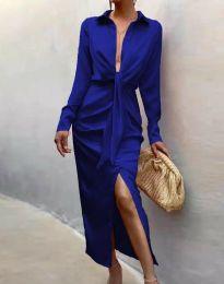 Елегантна рокля в синьо - код 6459