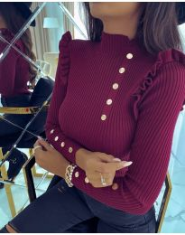 Дамска блуза в бордо  - код 6566