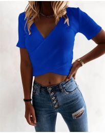 Дамска тениска в  тъмно синьо - код 1102