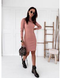 Дамска рокля в розово - код 5696
