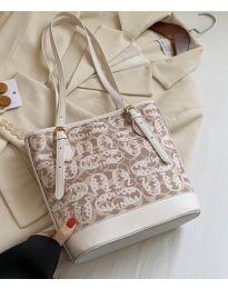 Дамска чанта в бежово - код B32/5049