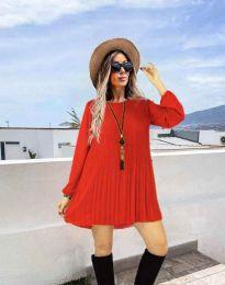 Дамска рокля в червено - код 1430
