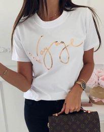 Дамска тениска в бяло - код 3350