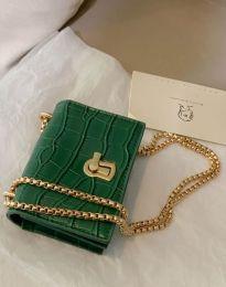 Дамска чанта в зелено - код B425