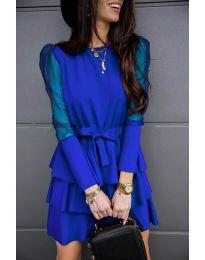 Елегантна рокля в тъмно синьо - код 8384