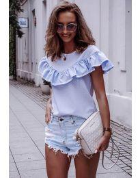 Дамска блуза в светло синьо - код 753