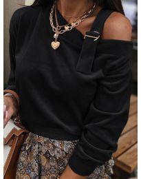Дамска блуза в черно - код 280