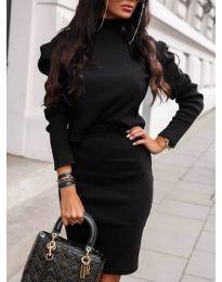 Комплект от пола и блуза в черно - код 151