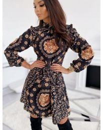 Елегантна рокля с атрактивен десен - код 505