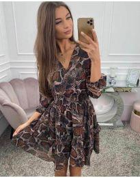 Дамска рокля с ефектен десен - код 4716