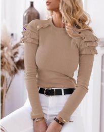 Дамска блуза в цвят капучино - код 1645