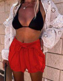 Къси панталонки в червено - код 0320
