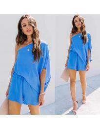 Ефирна дамска рокля в синьо - код 9933