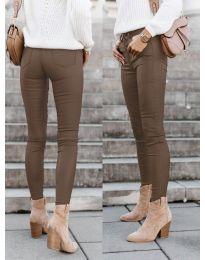 Дамски панталон в кафяво - код 5052